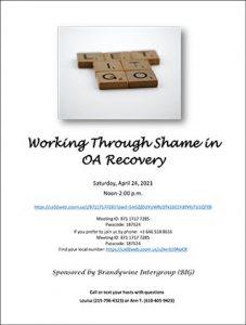 Working through shame