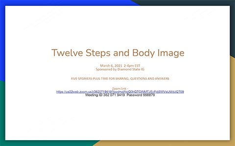 Twelve Steps and Body Image