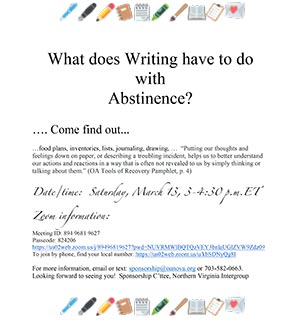What does Writing have to do with Abstinence?