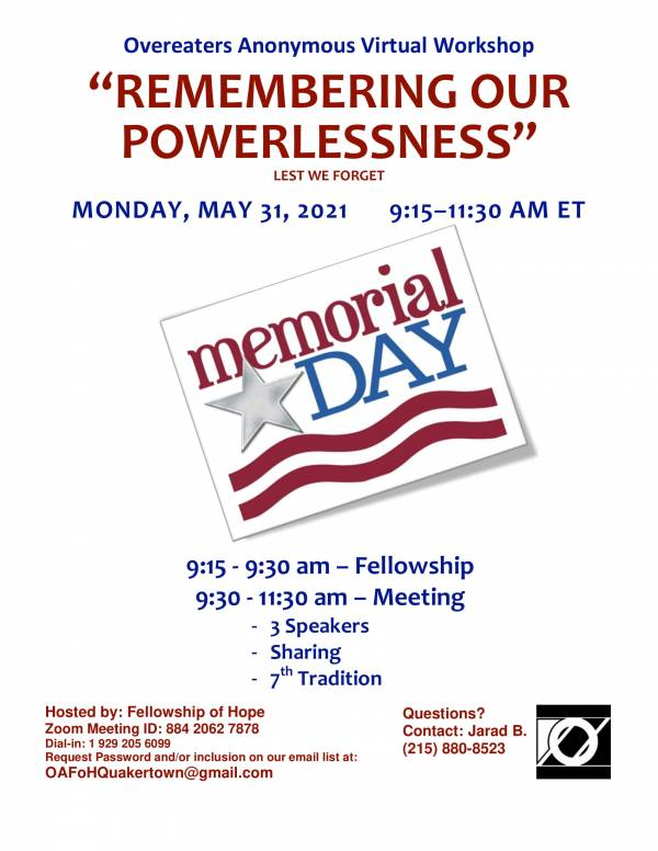 Remembering Our Powerlessness