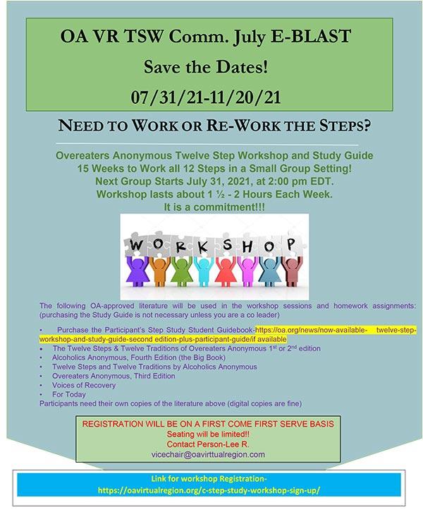 TSW 12 Step Study Workshop