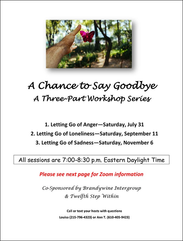 A Chance to Say Goodbye Workshop flier